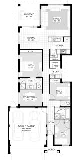 apartments floor plans for narrow lots best narrow house plans