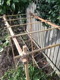 bamboo garden stakes diy bamboo garden trellis u2013 this pug life