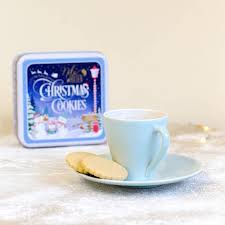 empty christmas cookie tins christmas lights decoration