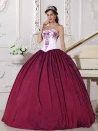 maroon quinceanera dresses traditional white and wine dress for quince with embroidery