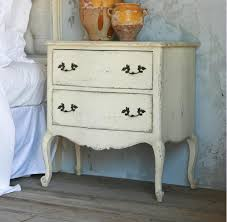 clementine french country old creme 2 drawer nightstand end table