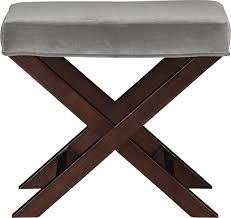 x base benchvanity stool como nickel modern vanity stools x base
