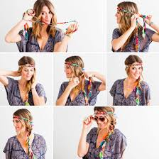 hippie headbands a hippie fashion trend take a headband that wraps and braid it right into your hair