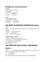 bureau veritas indonesia alamat class batam