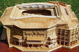 Toothpick House Wimbledon U0027s Centre Court Made From 12 000 Toothpicks Bbc News