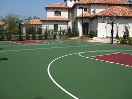 Backyard Basketball Court Basketball Court Surfaces Backyard Basketball Court Las Vegas Nv