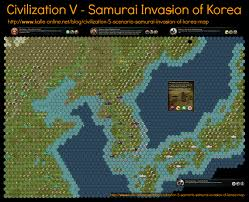 Viking Map Civilization 5 Scenario Samurai Invasion Of Korea Map