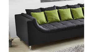 montego sofa montego sofa mit ottomane dunkelgrau kissen grün