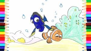 coloring pages finding nemo how to draw finding nemo art
