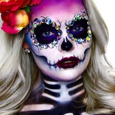 Day Of The Dead Halloween Makeup Ideas Sugar Skull Dia De Los Muertos Youtube Com Brimariefox