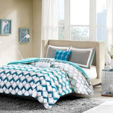 bedding set grey and aqua bedding festive gray bed comforter