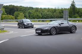 aston martin vintage james bond 2018 aston martin vantage rolls out in a costume car journalism