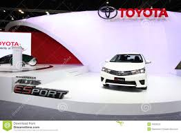 toyota th white toyota corolla car editorial stock photo image 39790133