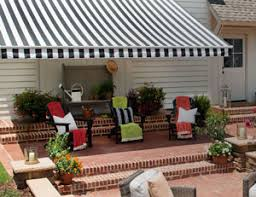 Tampa Awnings Signature Sunbrella Striped Awnings In Black And White