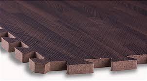 cherry wood grain floor mats interlocking puzzle fit