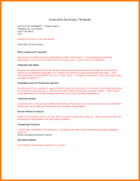 template for summary report 5 report executive summary rn cover letter