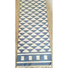 Aztec Runner Rug Tribal Aztec Pattern Runner Rug 2 7 X 20 Chairish