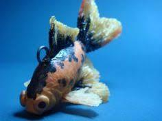 handmade ceramic fish fantail goldfish clay marine fish sculpture