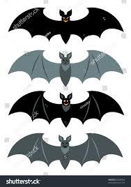 set simple bats stock vector 82008826 shutterstock