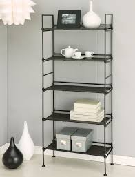 5 Shelf Ladder Bookcase by Free Standing Storage And Display Shelves Organize It