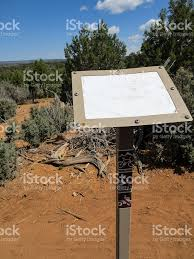 Cortez Colorado Map by Blank Mountain Biking Trail Map Sign In Cortez Colorado Stock