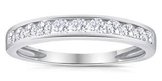 10k white gold wedding band 1 2ctw diamond channel wedding band in 10k white gold