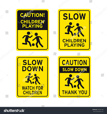 children playing traffic sign vector set stock vector 276447158