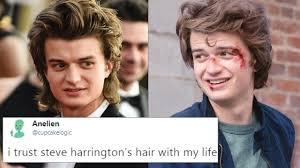 Hair Meme - the internet has turned steve harrington s hair into a meme and it s