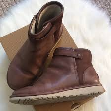 ugg rella sale 49 ugg shoes chocolate leather mini rella ugg winter boots