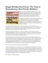happy birthday best friend the value of remembering a best friend u0027s u2026