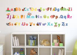 animal alphabet wall decals fun and educational letters for images pictures of animal alphabet wall decals fun and educational letters for nursery and kids rooms easy peel stickers