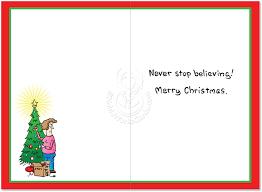 believe in santa humor paper card