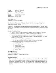 resume outline exles sle resume outline resume for study