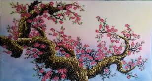gemstone painting peach blossom 2 gemstone artgemstone painting