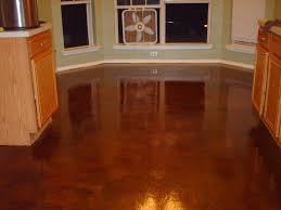 floor glass window decoration with acid concrete stain for