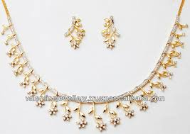 semi formal necklace set gold necklace catalog from indian