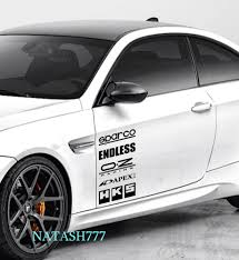 white mitsubishi sports car racing sponsors infiniti sport car sticker emblem logo decal black