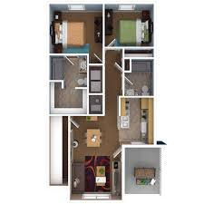 Two Floor Bed by Apartments In Indianapolis Floor Plans