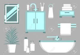 Elements Bathroom Furniture Set Of Bathroom Elements Bathroom Interior Vector Bathroom