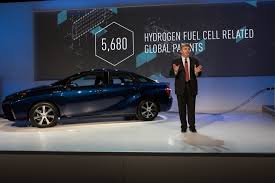 hydrogen fuel cell car toyota globe net toyota opens its fuel cell vehicle patents for free use