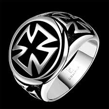 cool fashion rings images Hmilydyk hot cool fashion 316l stainless steel cross ring band jpg