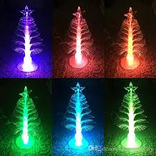 Christmas Tree With Optical Fiber Lights - 2017 led fiber optic christmas tree multi color light usb powered