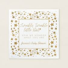 baby shower paper twinkle baby shower paper napkin zazzle