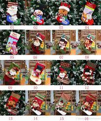 43 style christmas stocking big plaid santa claus sock gift bag
