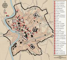 Vatican City Map Map Of Antique Downtown Rome Basilica Ulpia Is Highlighted
