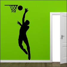 chambre basketball basketball wall sticker sports bedroom slam dunk vinyl decal