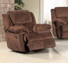 Fabric Recliner Sofa Reclining Sofa In Brown Fabric W Optional Items