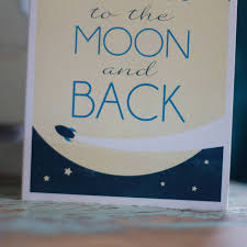 i you to the moon and back card and so to shop