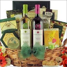 wine gift baskets easter favorites merlot gourmet easter wine gift basket at gift
