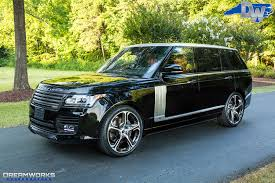black land rover with black rims range rover u2014 dreamworks motorsports
